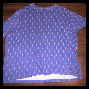Pineapple T-Shirt Big And Tall 4x Harbor Bay Navy